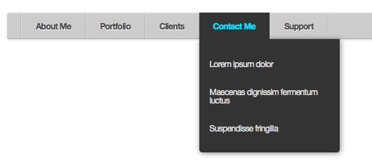 CSSでおしゃれなナビゲーションバー  mini