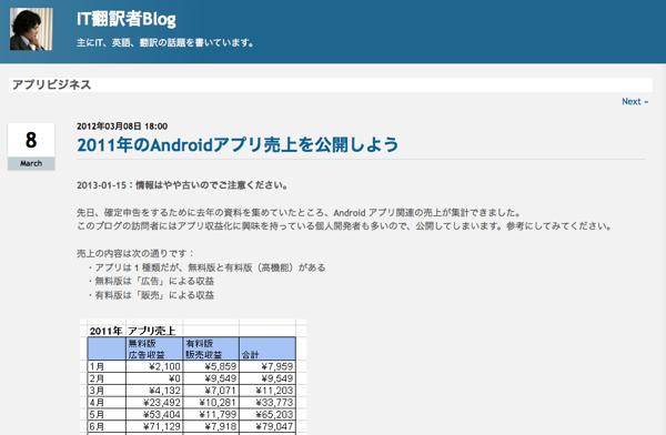 2011年のAndroidアプリ売上を公開しよう