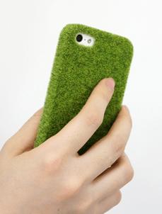 芝生でできたiPhoneケース