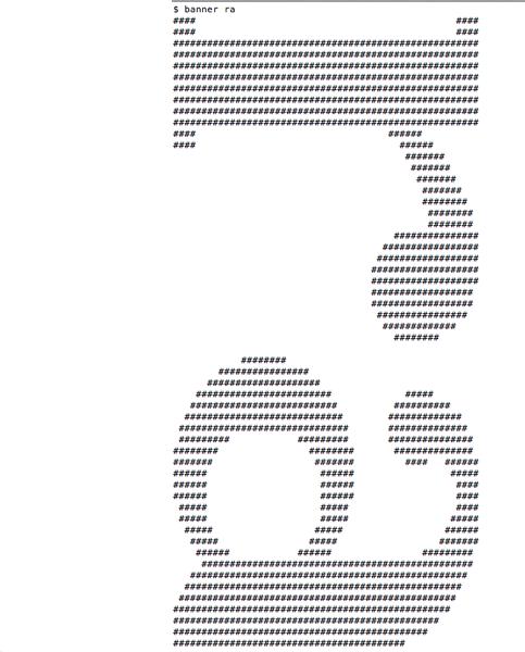 macのターミナルの裏ワザおもしろコマンド