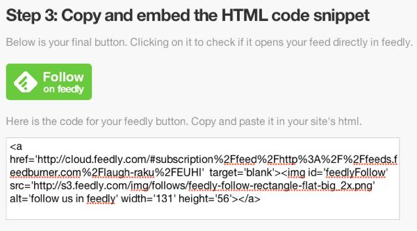 導入も簡単でリピーター増加に最適なfeedlyボタン