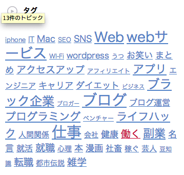 wordpressブログでウィジェットを使い、サイドバーにタグとカテゴリ一覧を表示