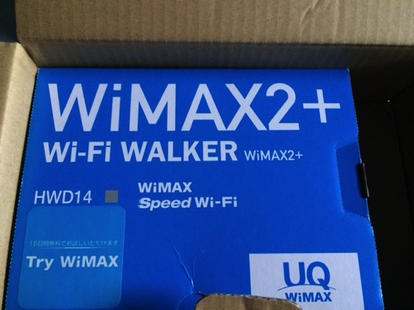 try wimaxでの端末