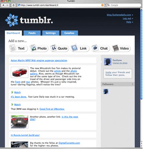 Tumblrの初期デザイン