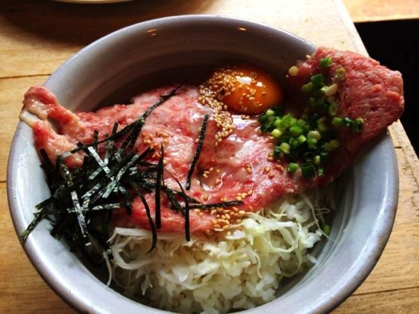 和牛わさび丼がうまい渋谷とうか