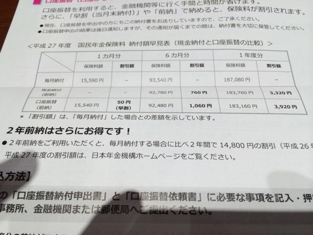 【最大1万5千円の割引】自営業と個人事業主の国民年金保険料は前納にすべきだ!
