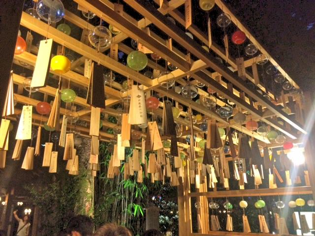 川越氷川神社の風鈴が移動。行列がすごい