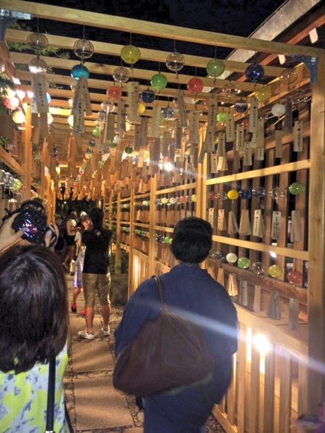 川越氷川神社の風鈴街道