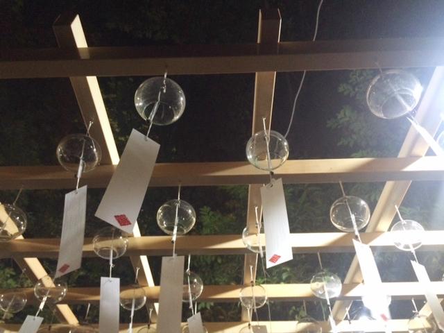 川越氷川神社の幻想的な風鈴