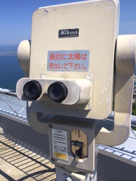 函館山展望台の双眼鏡