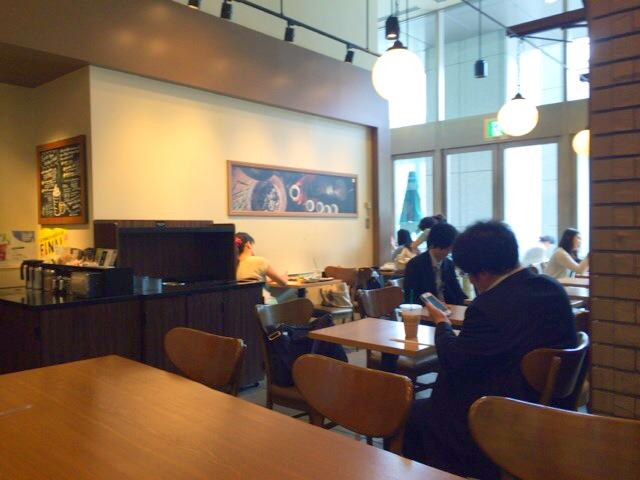 札幌駅スタバの電線席。多い店舗