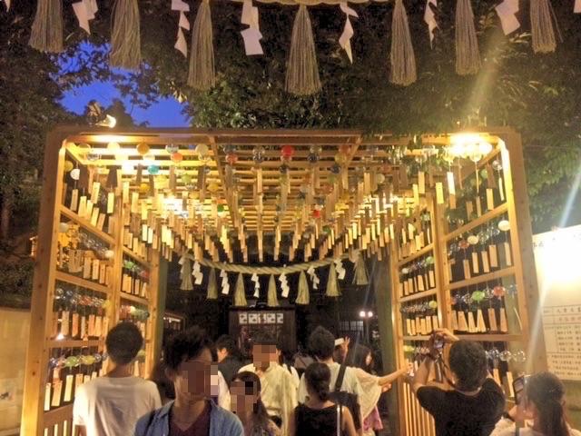 川越氷川神社の入り口。徒歩15分くらい
