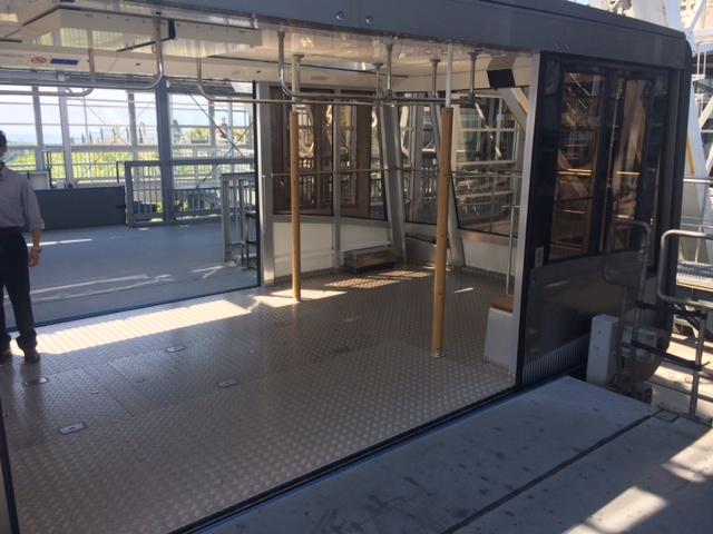 函館山ロープウェイの車両