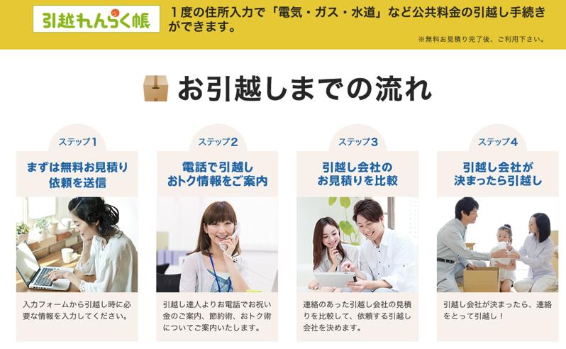 引越れんらく帳は東京電力が提供する便利サービス