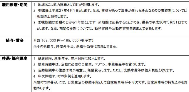 宮崎県の地域おこし協力隊の条件