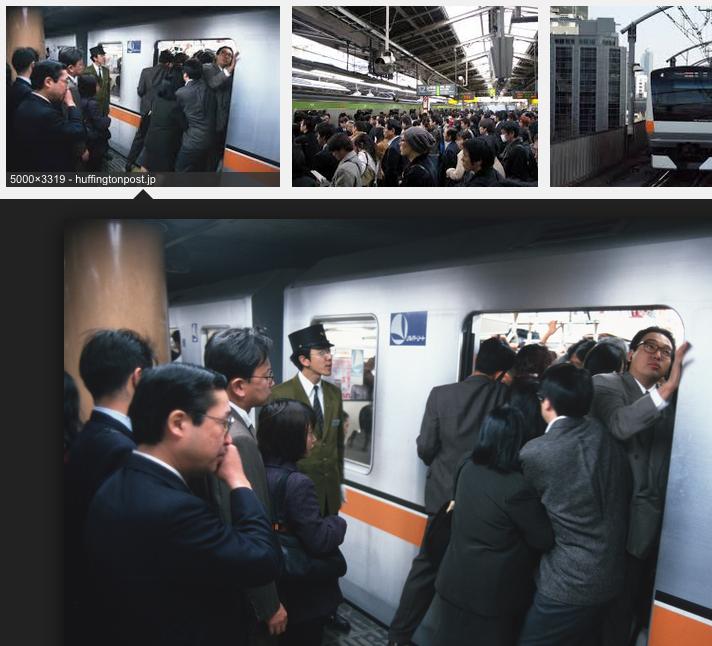 東京の通勤電車の混み方は異常