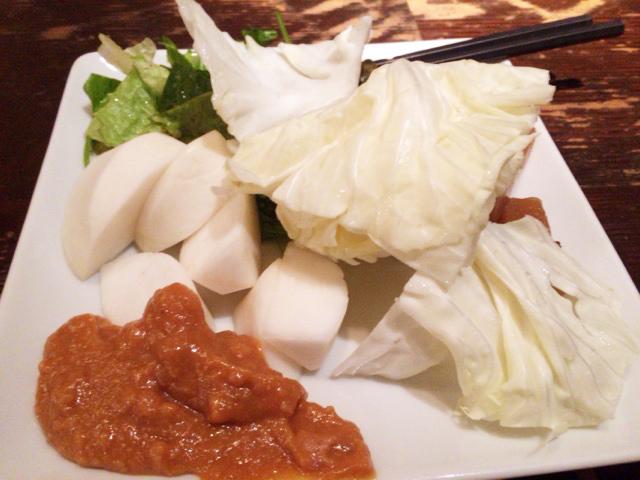 渋谷「春秋」の野菜取り放題では肉味噌がおすすめ