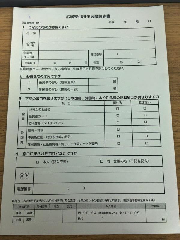 住民票発行に必要な書類