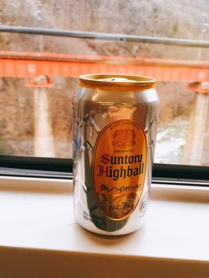 ハイボールを新幹線で飲む
