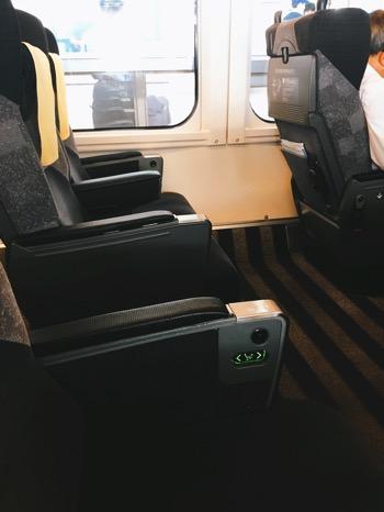 席間がゆとりある