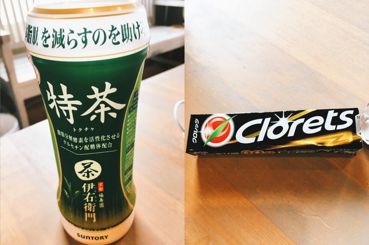 特茶とクロレッツ